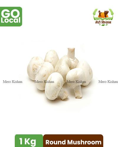 Round Mushroom Non Washed (1 Kg) - डल्ले च्याउ वास नगरेको (१ केजी)