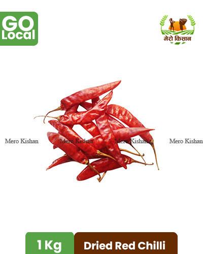 Dried Red Chilli - सुकेको नपिराे रातो खुर्सानी